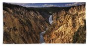 Lower Yellowstone Falls II Beach Towel