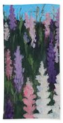 Lupines - Art By Bill Tomsa Beach Towel