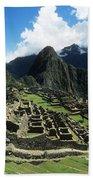 Machu Picchu Panorama Beach Towel
