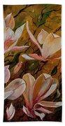 Magnolias Beach Towel
