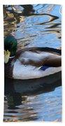 Mallard Drake Duck Beach Towel