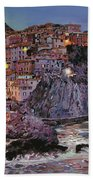 Manarola At Dusk Beach Towel