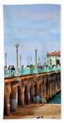 Manhattan Beach Pier Beach Towel