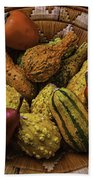 Many Colorful Gourds Beach Towel