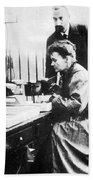 Marie And Pierre Curie Beach Towel
