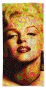 Marilyn Monroe - Maple Leaves Beach Towel