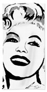 Marilyn What A Beautiful Girl Beach Towel
