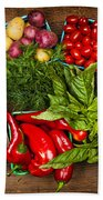 Market Fruits And Vegetables Beach Towel by Elena Elisseeva