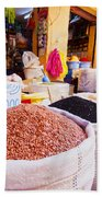 Market In Fes In Morocco Beach Towel