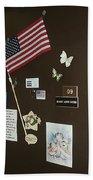 Mary Ann Guss' Patriotic Door Baldwin City Kansas 2002 Beach Towel