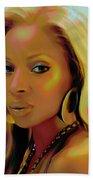 Mary J Blige Beach Towel