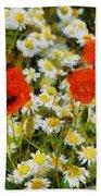 Meadow Flowers Beach Towel