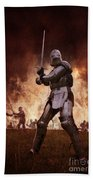 Medieval Knights In Battle Beach Towel