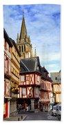 Medieval Vannes France Beach Sheet