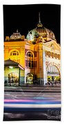 Melbourne At Night Beach Towel
