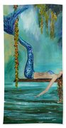 Mermaids Lazy Lagoon Beach Towel