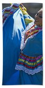 Mexican Folk Dancers Beach Towel