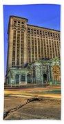 Michigan Central Station Detroit Mi Beach Towel