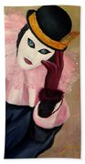 Mime With Thoughts Beach Towel