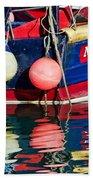 Miss Pattie At Lyme Regis Harbour  Beach Towel