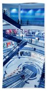 Modern Shopping Mall Interior Beach Towel