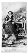 Molly Pitcher (c1754-1832) Beach Towel