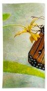 Queen Butterfly Danaus Gilippus Beach Towel