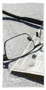 Money And Eyeglasses Beach Towel
