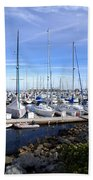 Monterey Harbor California Beach Towel