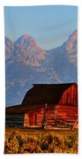 Mormon Row And The Grand Tetons  Beach Towel