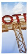 Motel Sign Beach Towel