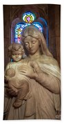 Mother And Child Beach Towel