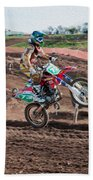Motocross Rider Beach Towel