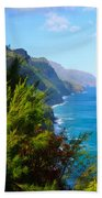 Na Pali Coast Kauai Beach Towel