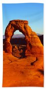 Natural Arch In A Desert, Delicate Beach Towel