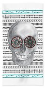 Navajo Skull Beach Towel