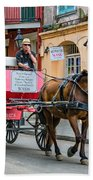 New Orleans - Carriage Ride Beach Towel