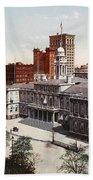 New York City Hall 1900 Beach Towel