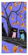 Night Owls Beach Towel