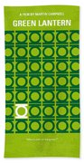 No120 My Green Lantern Minimal Movie Poster Beach Towel