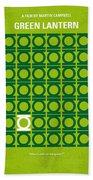 No120 My Green Lantern Minimal Movie Poster Beach Towel by Chungkong Art