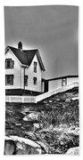 Nubble Lighthouse Cape Neddick Maine Beach Towel by Glenn Gordon