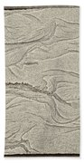 Ocean Sand Art Hearts Left Side Beach Towel