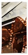 Old Film Strip And Photos Background Beach Towel by Michal Bednarek