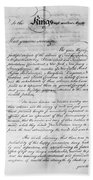 Olive Branch Petition, 1775 Beach Towel