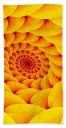 Yellow Pillow Vortex Beach Towel