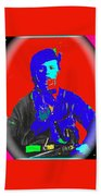 Outlaw Gang Leader Train Bank Robber Murderer Jesse James Collage 1864-2009 Beach Towel