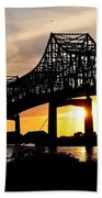 Over The Mississippi Beach Towel