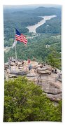 Overlooking Chimney Rock And Lake Lure Beach Towel