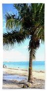 Palm Tree And Sailboat Beach Towel